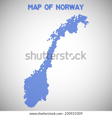 map of Norway. Transparency effects used. - stock vector