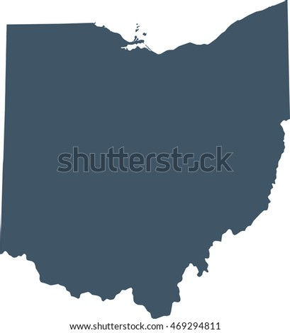Map Us State Ohio Stock Vector Shutterstock - Map of us ohio