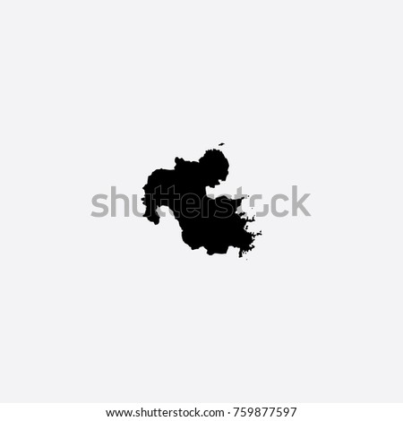 Map Oita Prefecture Japan Vector Illustration Stock Vector 759877597