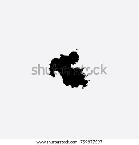 Map Oita Prefecture Japan Vector Illustration Stock Vector 759877597