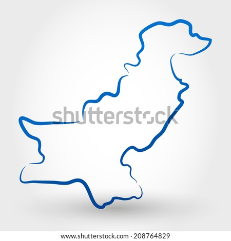 map of pakistan. map concept - stock vector