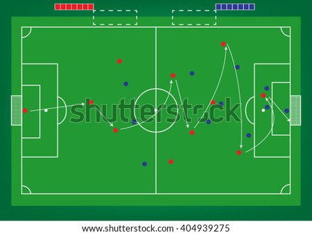 Map of playing football  The  coach planned in the football tournament