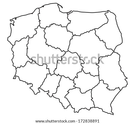 Map of Poland - This image is a vector illustration and can be scaled to any size - stock vector