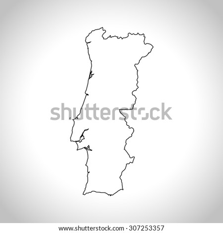 Map Portugal Stock Vector Shutterstock - Portugal map vector