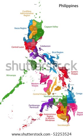 Map republic philippines eighty provinces stock vector 52253524 map of republic of the philippines with eighty provinces publicscrutiny Choice Image