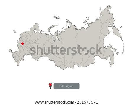 Russia Map Stock Vector 258403412 Shutterstock