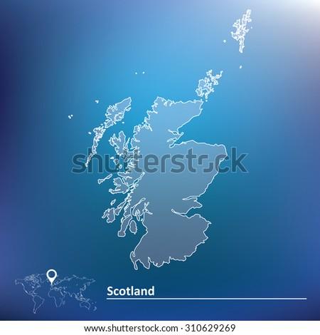 Map of Scotland - vector illustration - stock vector