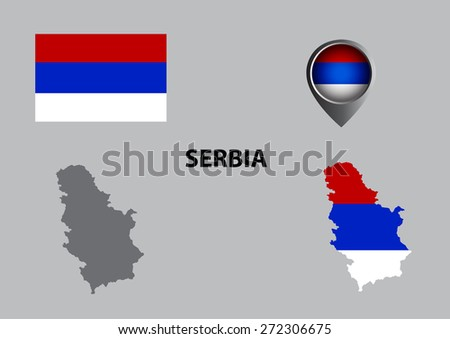Map of Serbia and symbol