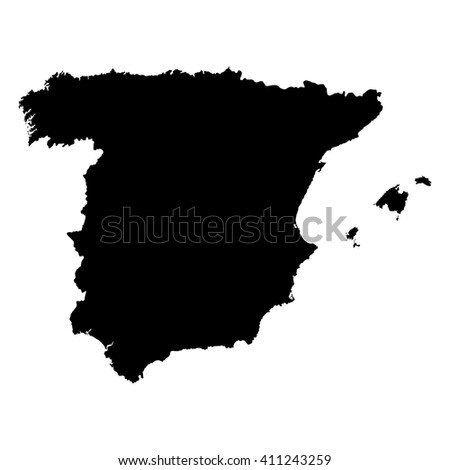 Map of Spain - stock vector
