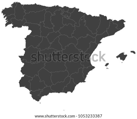 Map spain split into regions stock vector 1053233387 shutterstock map of spain split into regions publicscrutiny Choice Image