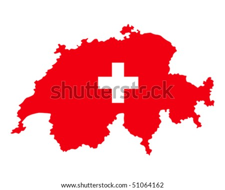 map of Swiss filled with flag of the state