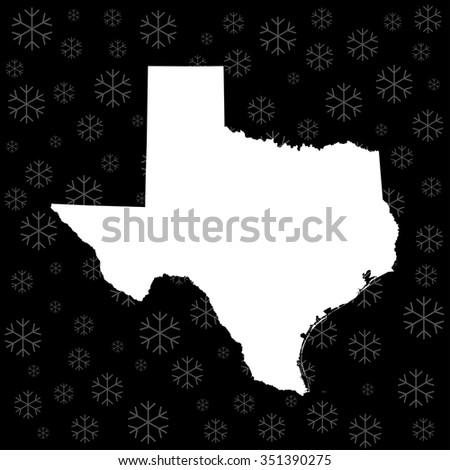 map of Texas - stock vector