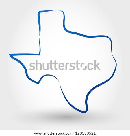 map of texas. map concept - stock vector