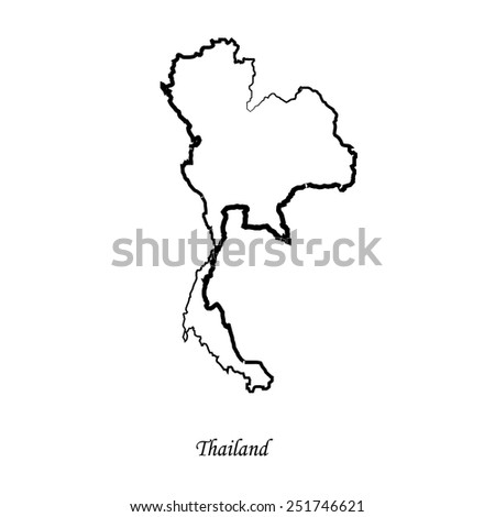 Map of Thailand for your design, concept Illustration. - stock vector
