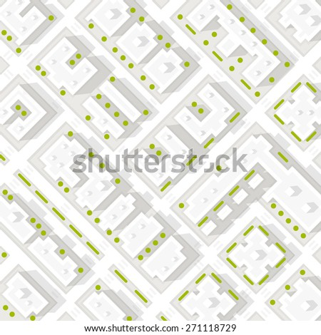 Map of the city in white style. Vector Illustration - stock vector