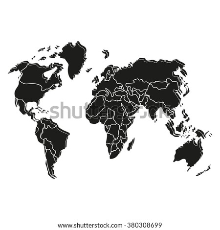 map of the earth - stock vector