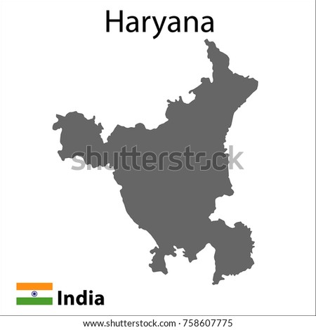 Map of the Indian city of Haryana. Vector illustration.