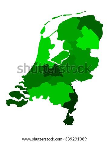 Netherlands Map Stock Vector 269295791 Shutterstock