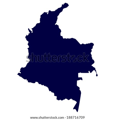 Map Columbia Isolated On White Background Stock Vector - Columbia us map