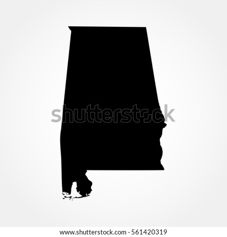 Map Of The U S State Of Alabama
