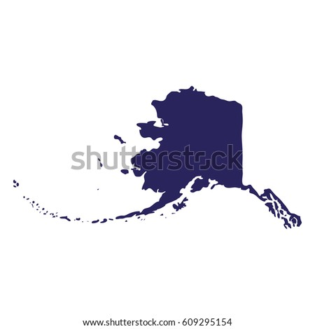 Map Us State Alaska Stock Vector Shutterstock - State of alaska map