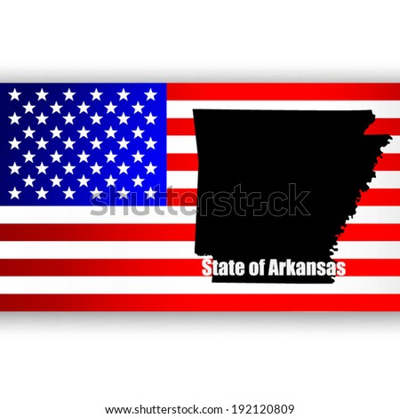 Map of the U.S. state of Arkansas - stock vector