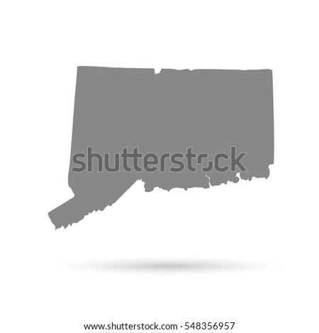 map of the u s state of connecticut on a white background
