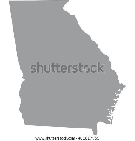 Georgia State Stock Images RoyaltyFree Images Vectors - Georgia us state map