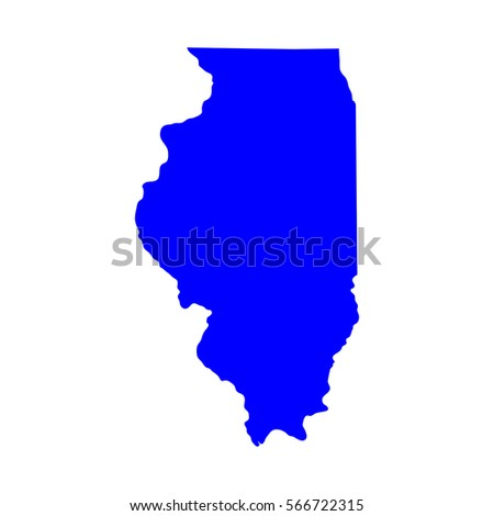 Map Us State Illinois Vector Stock Vector Shutterstock - Map of us vector