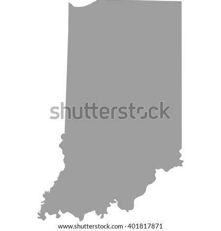 Map Us State Indiana Stock Vector Shutterstock - Us state map black and white