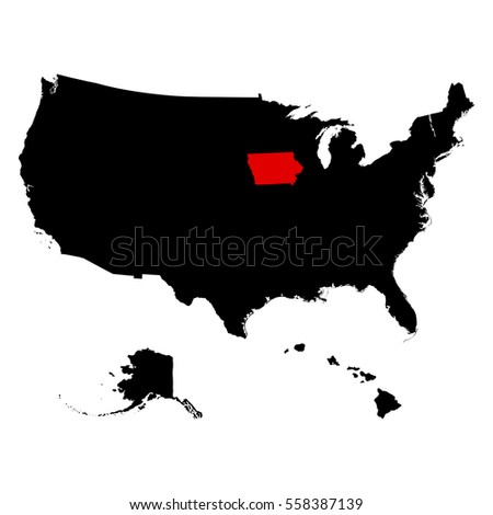 Iowa Map Stock Images RoyaltyFree Images Vectors Shutterstock - Iowa on the us map
