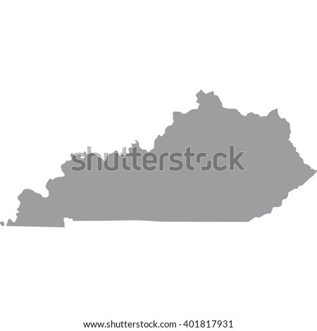 Kentucky Map Gray On White Background Stock Vector - Gray map us