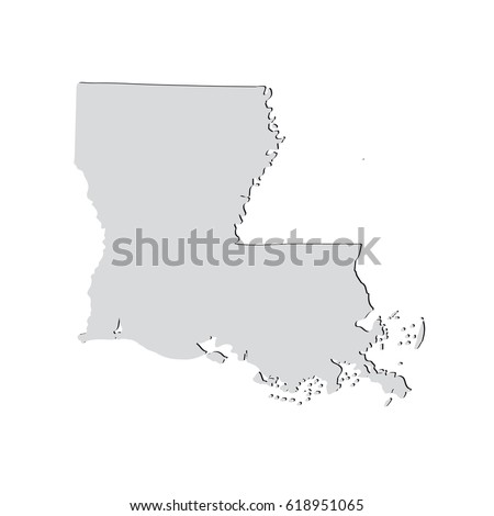 Map Us State Louisiana Stock Vector Shutterstock - Louisiana on us map