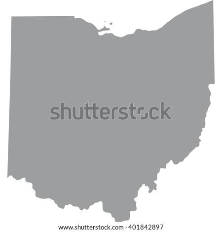 Map Us State Ohio Stock Vector Shutterstock - Ohio map us