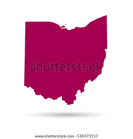 map of the u s state of ohio on a white background