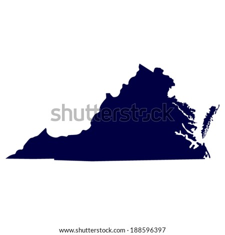 map of the us state of virginia