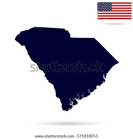South Carolina Flag Stock Images RoyaltyFree Images Vectors - Us state flag map