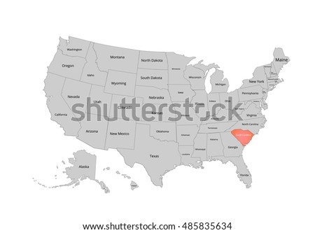 Map Usa Vector Illustration Image Clipping Stock Vector - Map if the usa