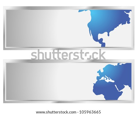 Map of the world business abstract background - vector illustration. - stock vector