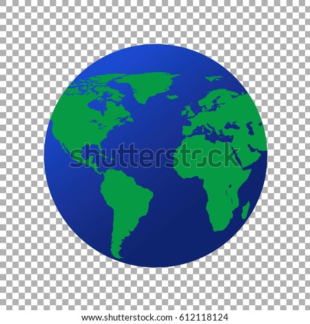 Map world globe on transparent background vector de stock612118124 map of the world globe on transparent background gumiabroncs Images