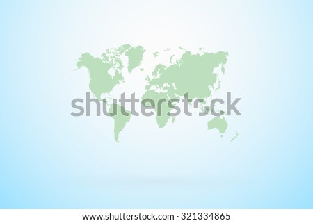Map Of The World Vector - stock vector