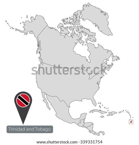 Map Trinidad Tobago Official Flag Location Stock Vector 339331754