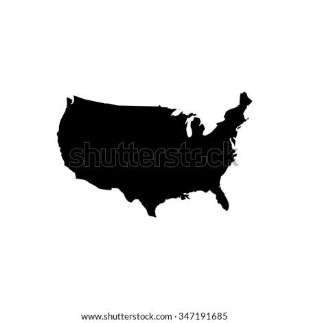Usa Outline Stock Images RoyaltyFree Images Vectors Shutterstock - Usa outline