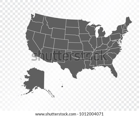 Map United States America USA Vector Stock Vector HD Royalty Free