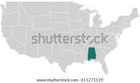 Map United States Arizona Highlighted Stock Vector 611271122