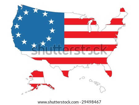 Isometric Map Flag Usa D Isometric Stock Vector - Us map with glag
