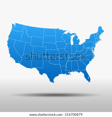 Usa Map Stock Images RoyaltyFree Images Vectors Shutterstock - Pictures of usa map