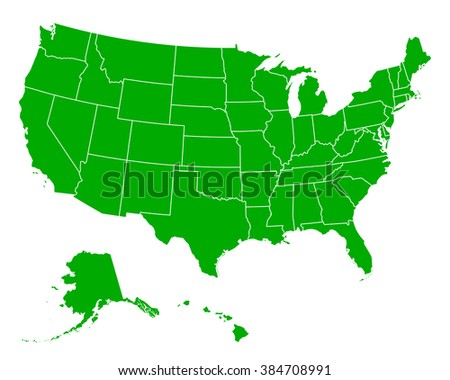 Us State Map Stock Images RoyaltyFree Images Vectors - Map of us vector