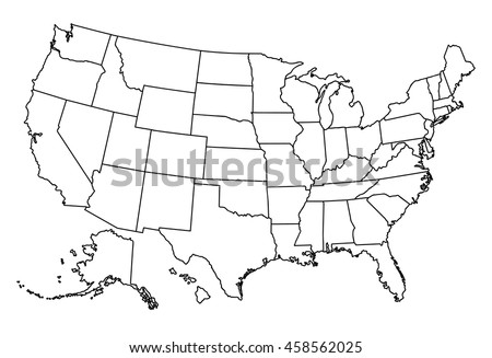 United States Map Stock Images RoyaltyFree Images Vectors - Drawing of usa map