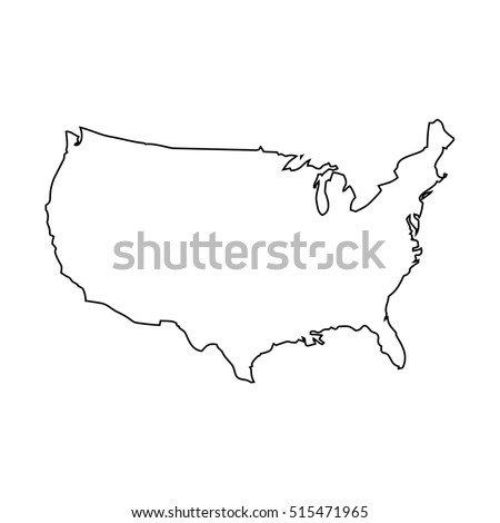 Usa Map Outline Stock Images RoyaltyFree Images Vectors - Usa map outline vector